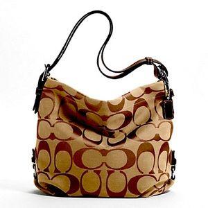 NWT Signature Brown Coach Duffle Bag